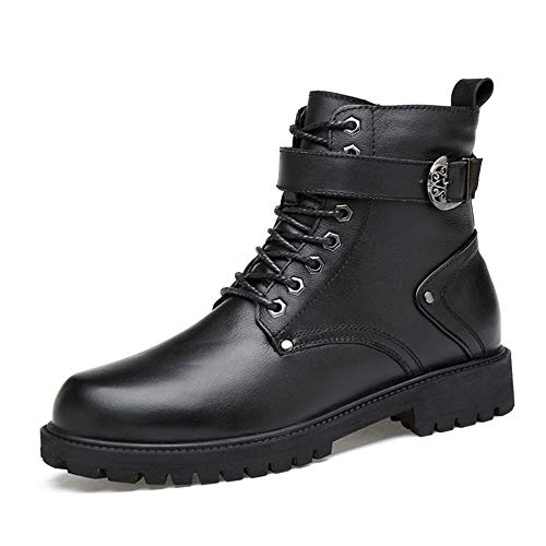 SMSZ Heren Modieuze enkellaars Casual Classic Outsole Winter Fleece Privileged High Top Slope Rits Boot(Conventionele Optioneel)