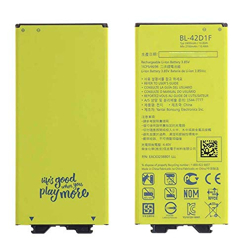 Ellenne Batería compatible con LG G5 H850 BL42D1F AD alta capacidad 2800 mAh