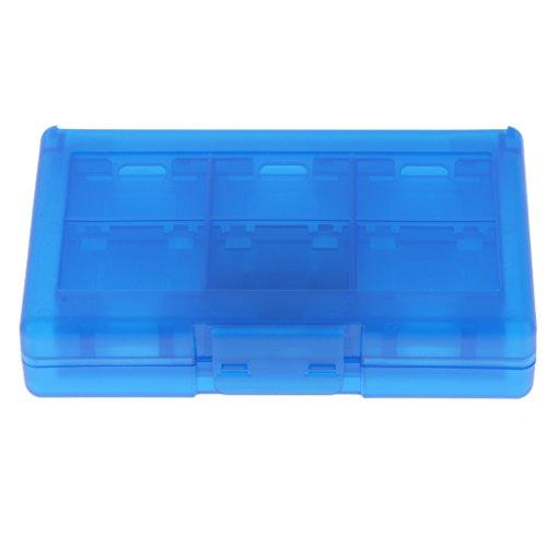 IPOTCH para Switch Cartucho de Tarjeta de Juego de 24 Ranuras Soporte de Caja Desmontable - Azul, como se Describe