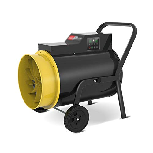 Zzmop Heating Industrial,Electric Space Heater Fan with Wheels,Thermostat,for Factories,Greenhouses,Breeding Farms,Drying.