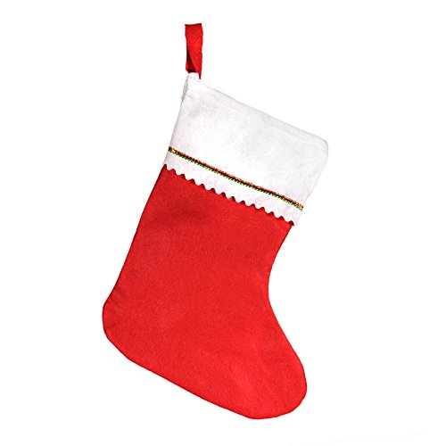 "Windy City Novelties Tall 15"" Red Felt Christmas Holiday Stockings (12 Pack)"