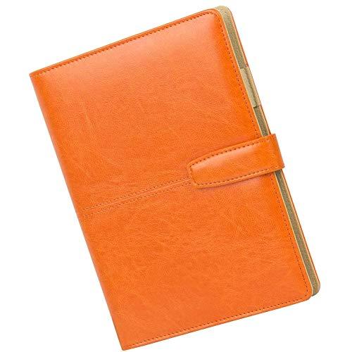 JPYH Cuaderno de Cuero A5, Cuaderno de piel A5 Recargable Hojas Sueltas para Negocios Conferencias Viajes Libreta Cuaderno de 100 hojas de Grosor