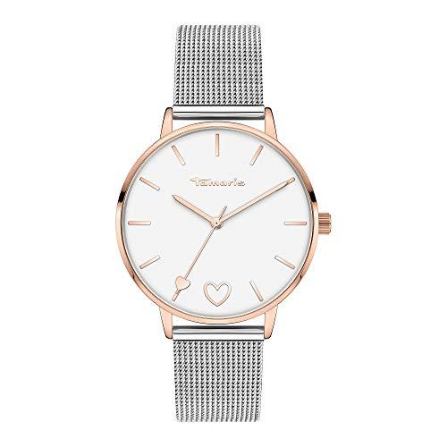 Tamaris Damen Analog Quarz Uhr mit Edelstahl Armband TT-0011-MQ