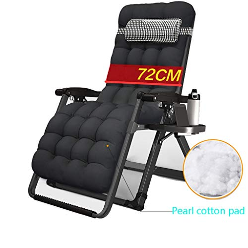 Plegable para acampar Cama Calesa portátil plegable reclinable Silla, al aire libre for trabajo pesado estables silla de salón de la gravedad cero sillas reclinables cubierta Holder Patio Jardín Balcó