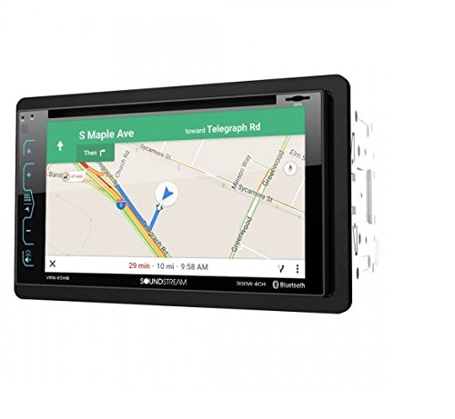 """Soundstream VRN-65HB 2-DIN GPS/DVD/CD/MP3/AM/FM Receiver with 6.2"""" LCD/ Bluetooth/MobileLink X2,Black"""