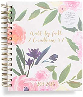 Back to School ! JULY 2019 - DECEMBER 2020 - Eccolo Daily Planner Spiral With Color Tabs - 18 Monthly Planning Calendar - 7