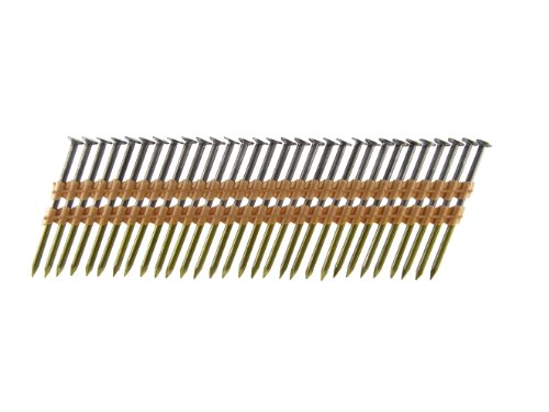 B&C Eagle A312X131/22 Round Head 3-1/2-Inch x .131 x 22 Degree Bright Smooth Shank Plastic Collated Framing Nails (500 per box)