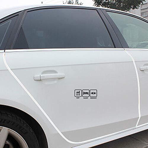 spijt na het eten en slapen patroon auto stickers auto voorzijde voorruit auto Body Window deur