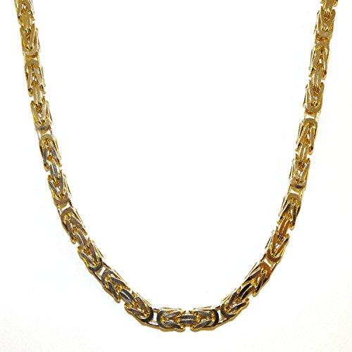 Königskette Gold Doublé 7 mm 70 cm Halskette Goldkette Herren-Kette Damen Geschenk Schmuck ab Fabrik Italien tendenze BZGYs7-70v