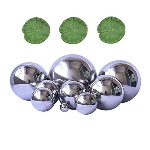 Super Idee 9 er Set Schwimmkugeln Silber mit 3 Schwimmend Lotusblätter für Miniteich Terrassenteich Zinkwannen Solarbrunnen Garten Balkon...