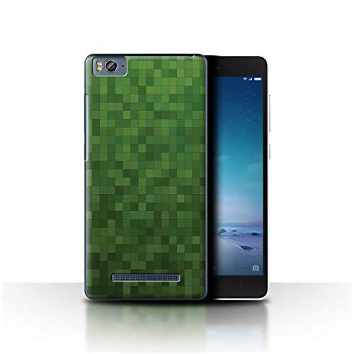 Stuff4 Hülle/Hülle für Xiaomi Mi 4C / Wald Grün Muster/Pixelmuster Tarnung Kollektion