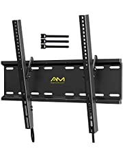 Tilting TV Wall Mount Bracket for 23-55 Inch LED LCD OLED Flat Screen/Curved TVs-Low Profile TV Wall Mount Holds up to 115lbs-Easy Install with All Hardware Included, Max VESA 400x400mm APPSMTK1