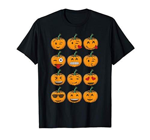 Calabazas Emoji Disfraz Halloween Hombre Mujer Niños Niñas Camiseta