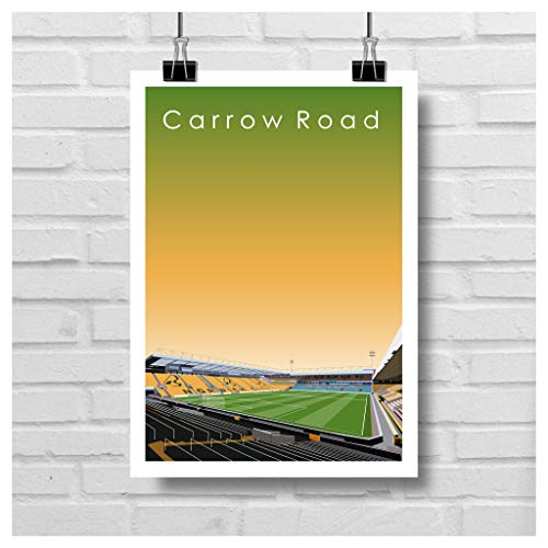 Home.Ground.Prints Wall Art Graphic Design English Premier League Football Stadium Gift Collection - Norwich City FC' Carrow Road' NCFC