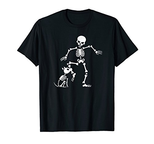 Funny Dog like bones, bone skeleton Halloween T-Shirt skull