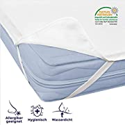 Mister Sandman atmungsaktiver Nässeschutz für Ihre Matratze- Matratzenschoner und Inkontinenzunterlage, rutschfest und wasserdicht, 120 x 200 cm Polyester-Oberfläche