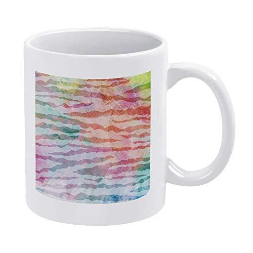 N\A Tazas de café Blanco de 11 oz, Taza de Chocolate de cerámica de Cebra para Mujer, Jefe, Amigo, Empleado o cónyuge