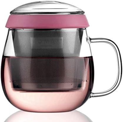 UNIHOM Tea Infuser Mug 480ml 16oz Teacup Set with Stainless Steel Filter Strainer for Loose product image