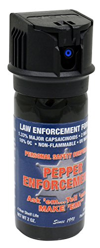 Pepper Enforcement PE510M-FT Splatter Stream Pepper Spray for Self Defense - Police Strength 10% OC Formula - Emergency Non Lethal Personal Protection
