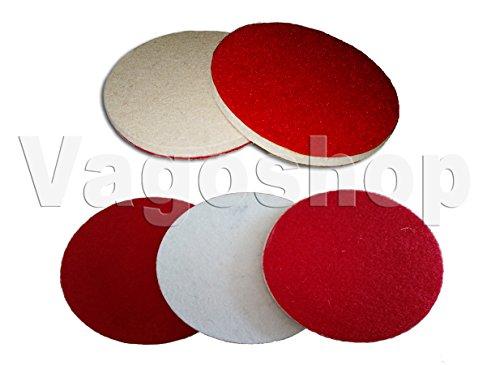 5 Klett Filz Polierscheiben 125 mm Filzscheiben Schleifscheiben Polierdisc
