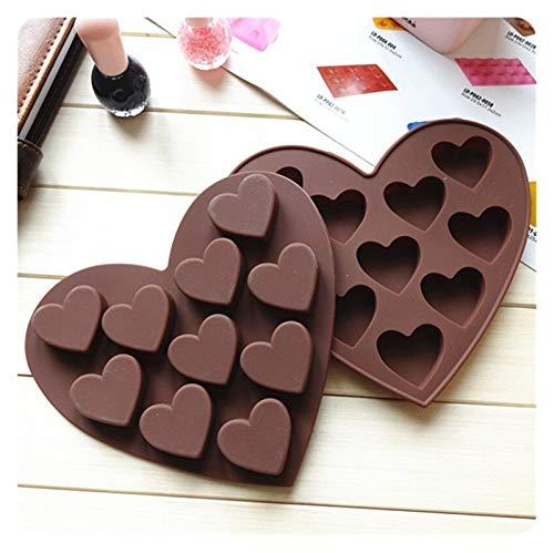 LWZZDZ - Molde para repostería con forma de corazón, diseño de corazón
