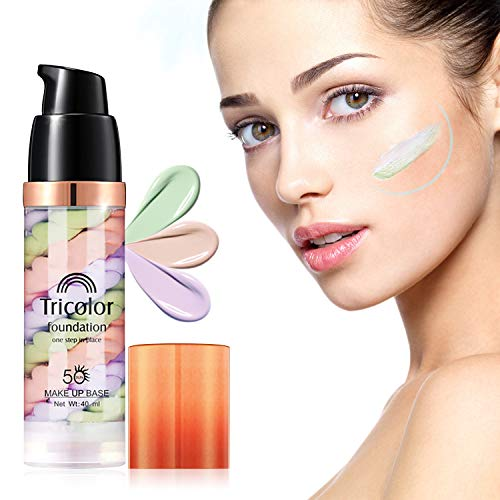 Primer Face Makeup, Xshows One Step Makeup Primer Pores Perfect Cover Concealer Foundation for Cover Acne Marks Oil Control Moisturizing 41 ml