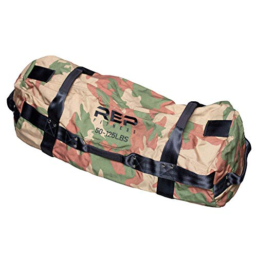 REP FITNESS Sandbag - Large, Camo, 50-125 lbs