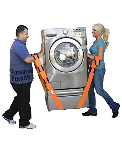 Forearm Forklift Lifting and Moving Straps, to easily carry furniture, appliances, mattresses, or any heavy object. Rated for items up to 800 lbs. 2 person moving system that encourages proper lifting techniques