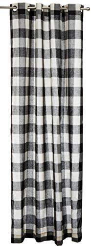 Lorraine Home Fashions 09570-84-00146 BLACK Courtyard Grommet Window Curtain Panel, Black, 53 X 84