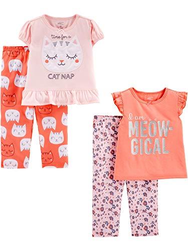 Simple Joys by Carter's - Pijama - para niña multicolor Kitty/Animal Print 4T