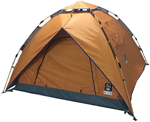 OLPRO Outdoor Leisure Products POP Tent 2.1m x 2.1m 2 Berth Pop Up Festival Tent Orange