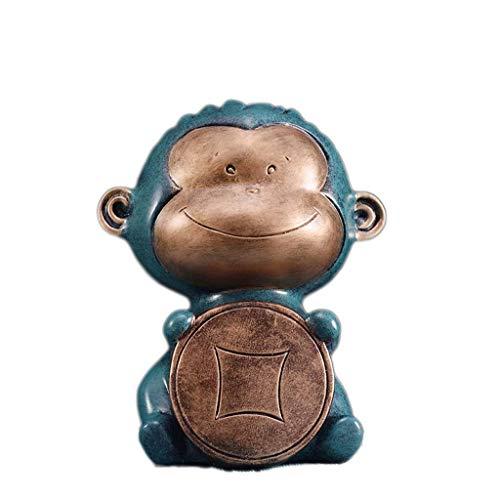 JJZXT Piggy Bank-dañoso del Mono del Banco de Moneda for Niños - Una Alternativa for único Lindo Piggy Banks - deleita con Movimientos realistas y Adorable (Color : D)