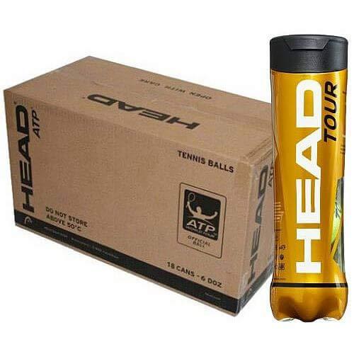 Head Cartón 18 tubos Tour 4 bolas de tenis