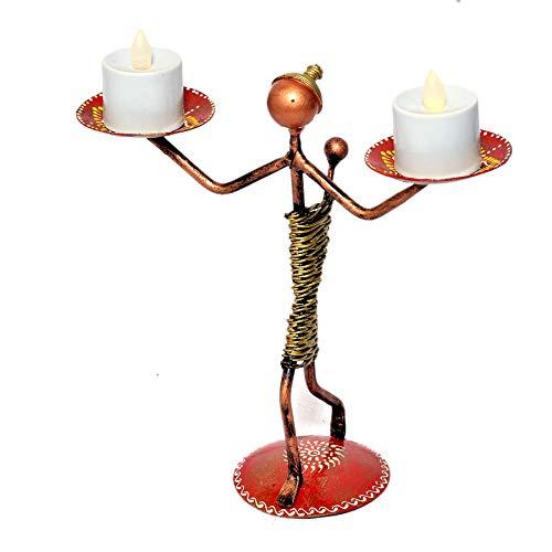 Jaipur Crafrafts Hub Photophore décoratif et Figurine pour décoration de Table, décoration de Maison, décoration de Chambre et Cadeaux