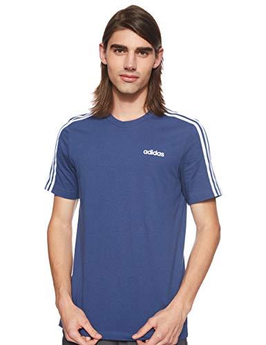 adidas E 3S Tee, T-Shirt Uomo, Tech Indigo/White, XS