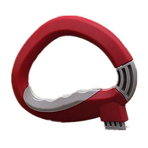 Einfach Tragegriff für Gemüse Obst Tüten Tragetasche Einkaufstasche Halter Tragen Werkzeug (Rot)