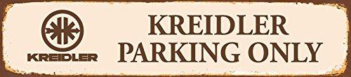 Decoratie 7 wegschild 47 x 10 cm Kreidler Parking Only - Auto/Motorfiets