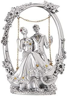 Avighna Romantic Love Couple on Swinging Loveseat Fiber Showpiece (AG-c50)