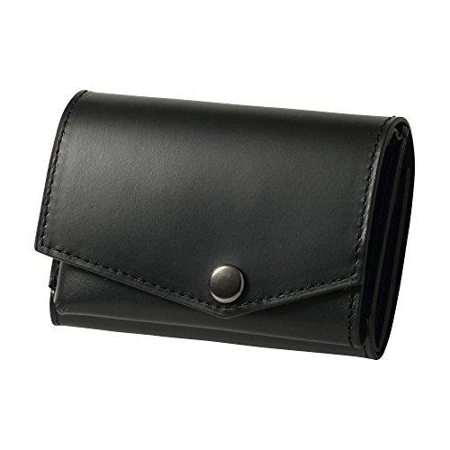 小さい財布 abrAsus ブッテーロレザーエディション ブラック