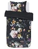 ESSENZA Bettwäsche Fleur Blumen Baumwollsatin Nightblue, 135x200 + 1x 80x80 cm