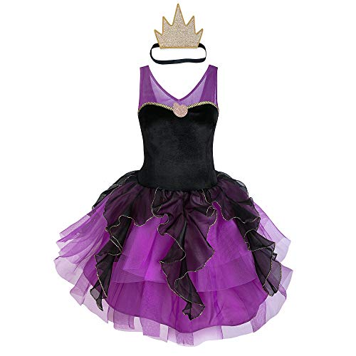 Disney Ursula Costume with Tutu for Adults - The Little Mermaid Size Ladies L Multi