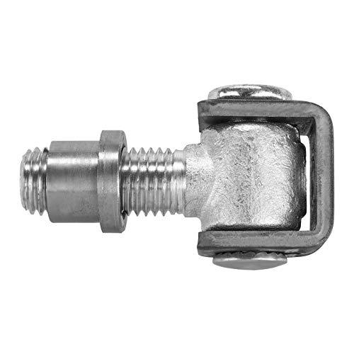 2 x Torangel 106 mm verstellbar mit M24 Einschweißmutter Torbeschlag Torband Stahltorscharnier Stahltorband von SO-TECH®
