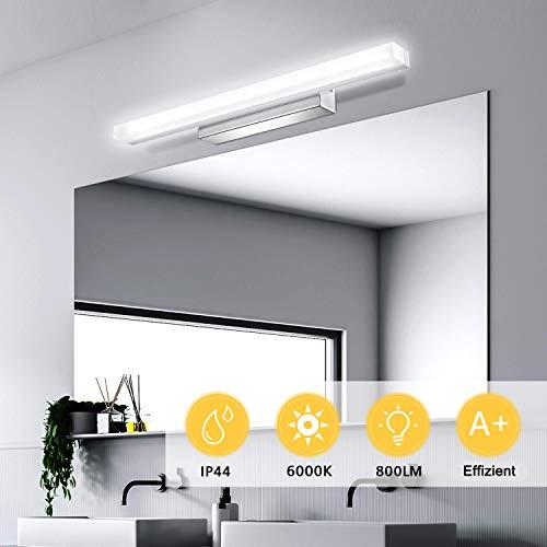 Kohree LED Spiegelleuchte, IP44 Wasserdichte Spiegel Lampe für Spiegelschrank, Badezimmer, 40cm Badleuchte Schminklicht Wandleuchte Badbeleuchtung, Neutralweiß, 6000K 9W 800lm 220V [Energieklasse A+]