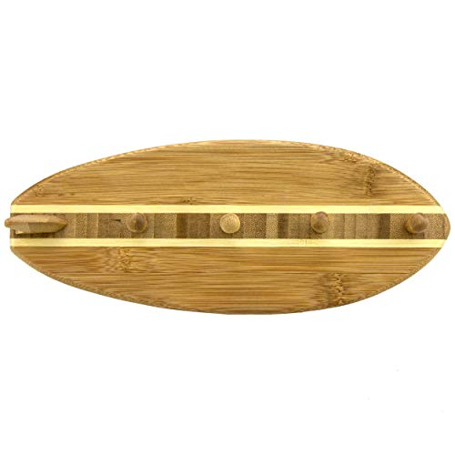 Totally Bamboo Surfboard Shaped Wall Mounted Key Rack