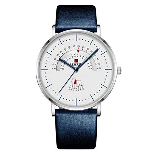 TXOZ-Q Blue Redondo Top Moda Moda Reloj de Hombre Luxury Impermeable Acero Inoxidable Malla de Malla Reloj Reloj de Cita de Hombre Muchacho