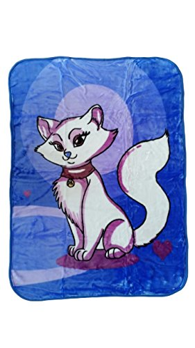 YSN Home Collection - Kinderdecke Decke Kuscheldecke - Katze blau Kitty - 110x140 cm