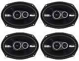 (4) Kicker 43DSC69304 DSC6930 6x9 360 Watt 3-Way Car audio Speakers 4-Ohm DS693