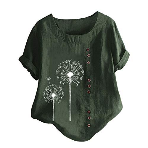 Druck Kurzarm T-Shirt Blumen Tops Ringelshirt Damen Damen Shirt Kurzarm Blusen FüR Damen