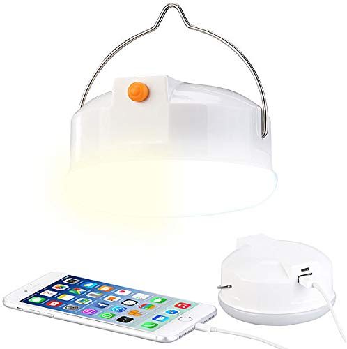Lunartec Campinglampe USB: 3in1-LED-Campingleuchte mit Anti-Mücken-Funktion & Powerbank, 6.000 mA (LED Campinglampe USB)