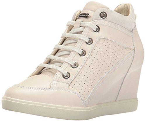 Geox D Eleni C, Sneaker a Collo Alto Donna, Bianco (off White), 37 EU